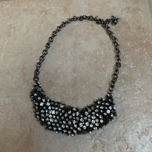 NWOT J. Crew Black Sparkle Necklace